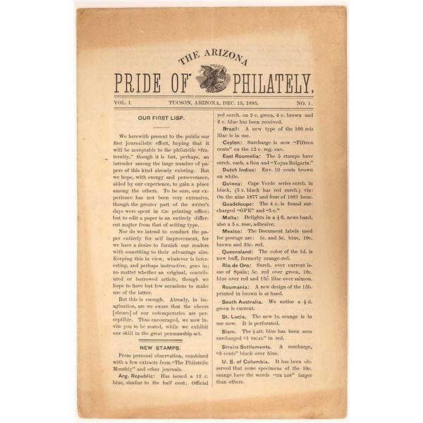"""The Arizona Pride of Philately"" Vol. 1 No. 1  [134170]"