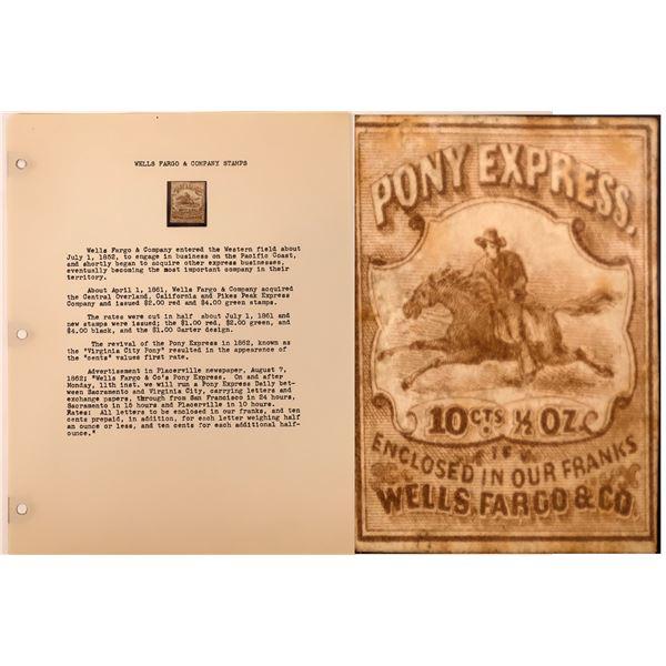 Wells Fargo Pony Express 10c Stamp (Scott 143L7)  [134206]