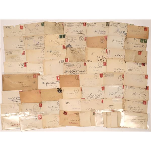 California Cover and Postmark collection, c1900-1908  [137655]