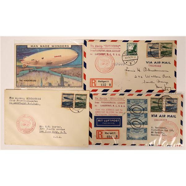 Hindenburg Postal Covers  [135120]