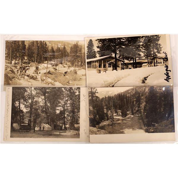 Cisco Grove and Applegate, California Postcards (4)  [136052]