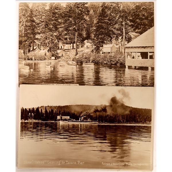 Two Rare Lake Tahoe Postcards  [135205]