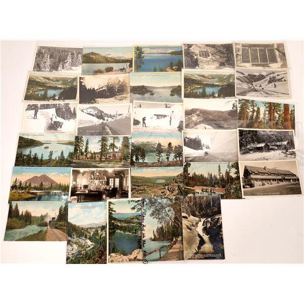 Lake Tahoe, Donner Pass, Hwy 40 Postcards (28)  [136041]
