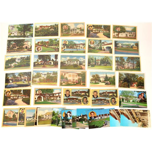 Hollywood Star Homes Post Card Collection  [137964]