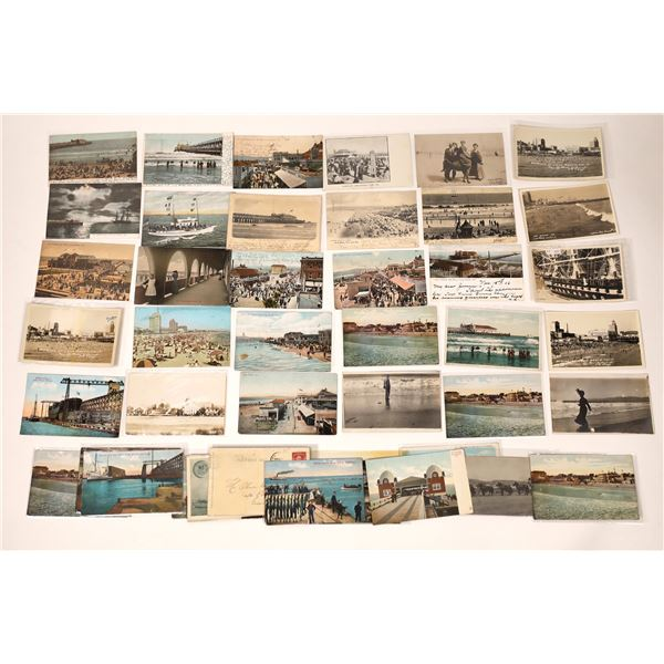 Long Beach Street Scenes Post Card Collection  [137961]