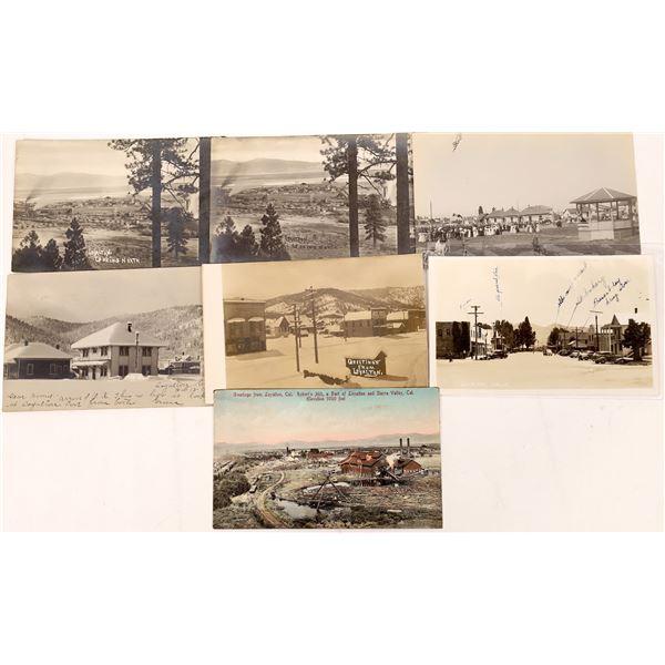 Loyalton Postcards (7)  [137902]