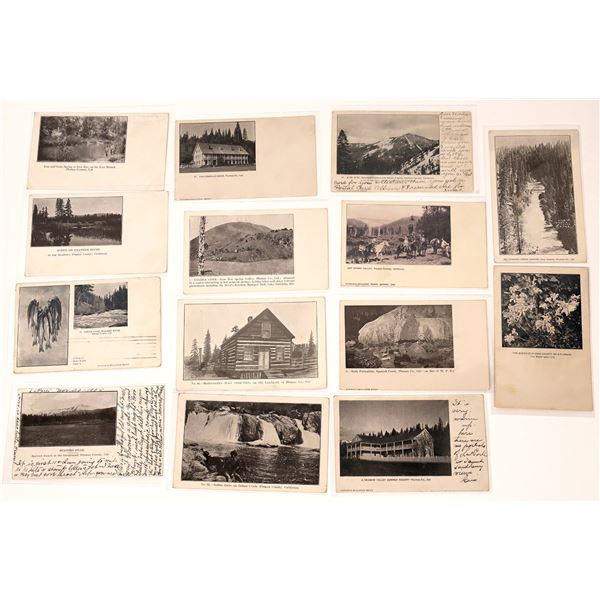 Plumas County Suite Post Card Collection (14 pieces)  [137977]
