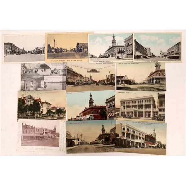 Red Bluff Vintage Street Scenes Postcard Collection  [137843]