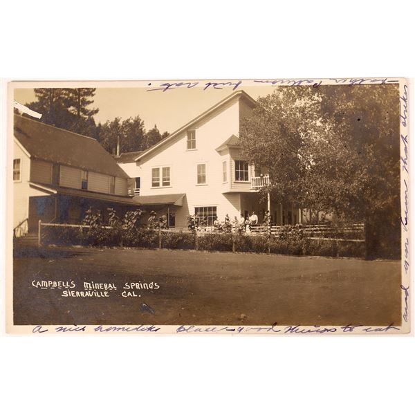 Campbell's Mineral Springs, Sierraville Postcard, 1910  [137909]