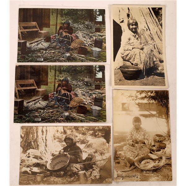 Yosemite Native American Basket Weaving Postcards (5)  [137923]