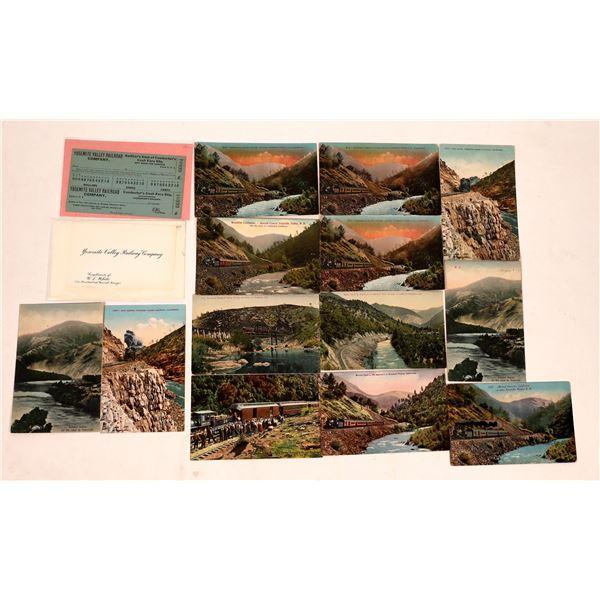 Yosemite Valley Railroad Postcards (15)  [138092]