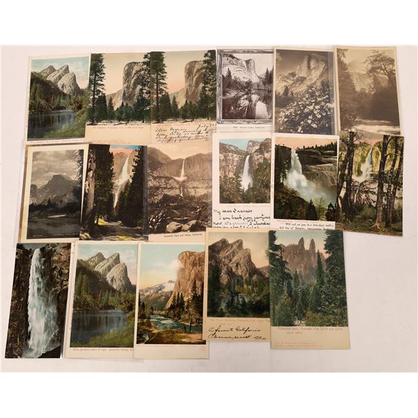 Yosemite Vintage Postcard Lot (17)  [137871]