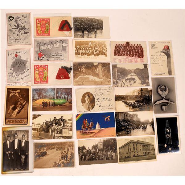 Fraternal Shriver's Postcard Group (24)  [137915]