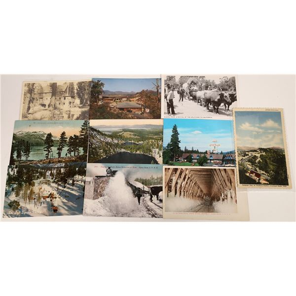 Group of Postcards from Donner to Yuba River (9)  [136455]