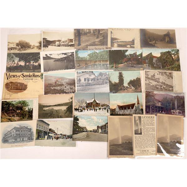 Napa, Sonoma, and Lake Co, California Postcards (26)  [136040]