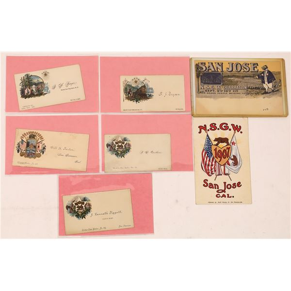Native Sons of the Golden West Membership Cards & Postcard Group (7)  [137914]