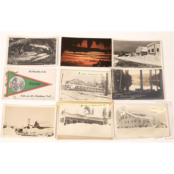 Westwood, Chester & Lake Almanor Post Card Collection (15 pieces)  [137976]