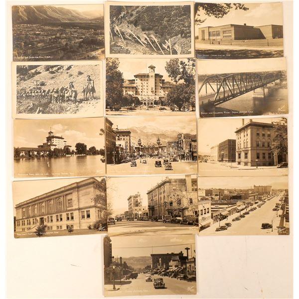 Grand Junction, Telluride, Durango Real Photo Postcards (13)  [137082]