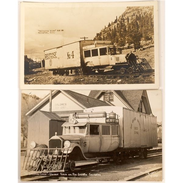Rare RPC's of Galloping Goose Railroad, Telluride (2)  [137083]