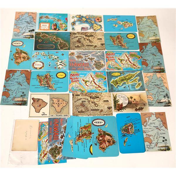 Hawaii Postcard Collection: Maps  [136158]