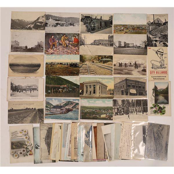 Small Town Montana Vintage Postcard Collection  [137807]
