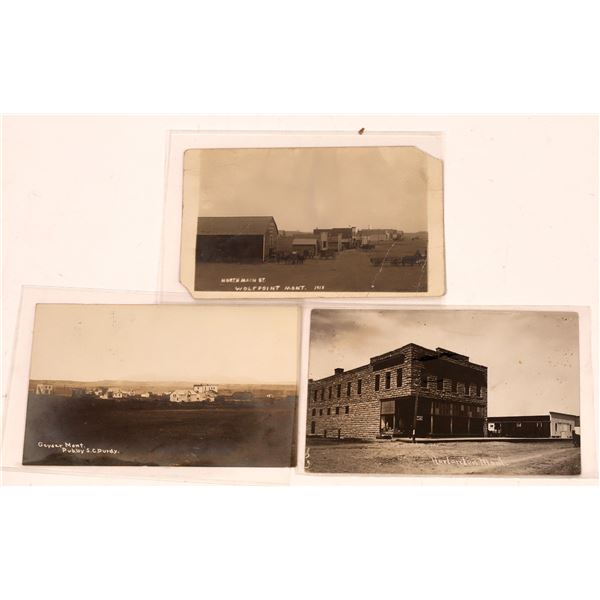 Montana Small Town Old Real Photo Postcards Street Scenes  [137802]
