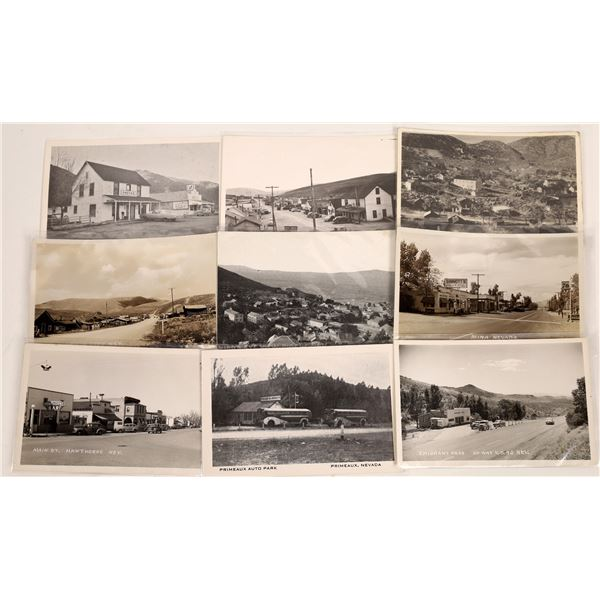 Nevada Small Town View Postcards (9)  [136462]