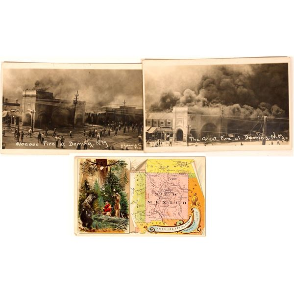Real Photo Postcards of Deming, New Mexico Fire Plus Bonus  [134191]