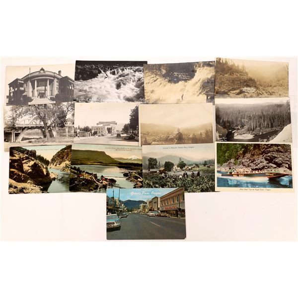 Grants Pass and Rogue River Postcards and RPCs (13)  [138899]