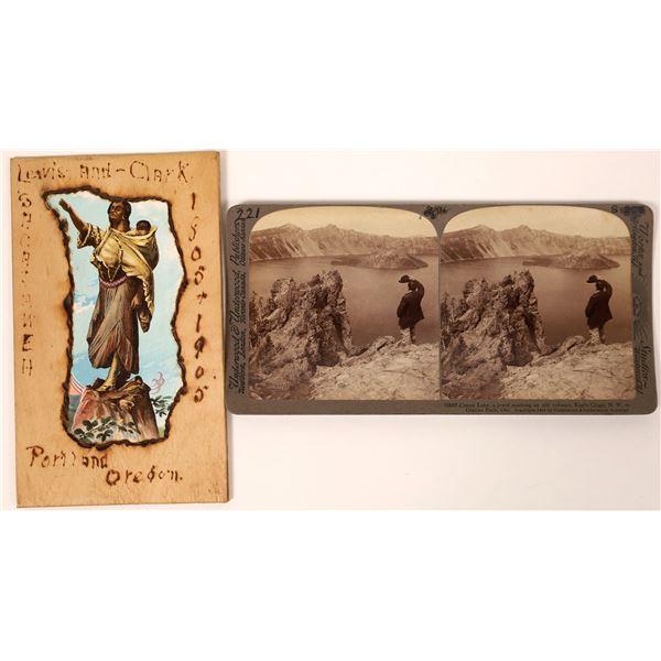 Unique Wooden Postcard Lewis & Clark Centennial  [135132]