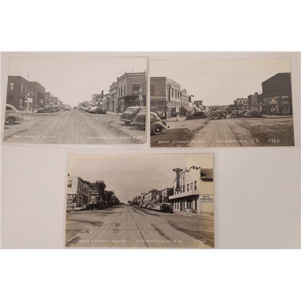 Chamberlain SD Street Scene Real Photo Postcard Collection  [135143]