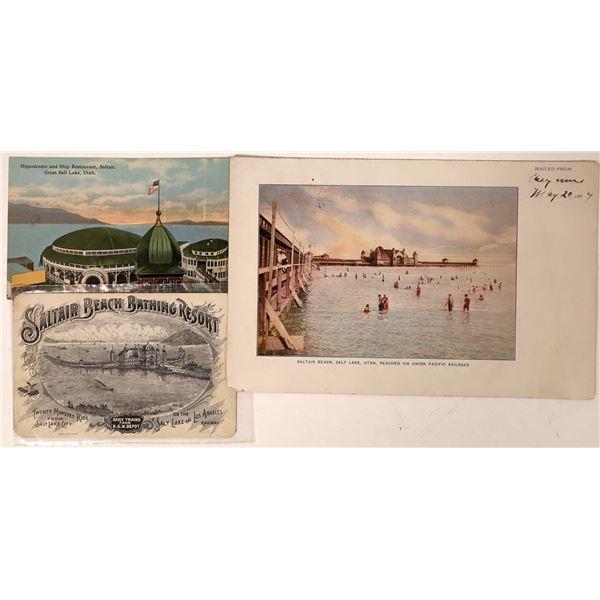 Saltair Beach Bathing Resort Vintage Postcards  [135667]
