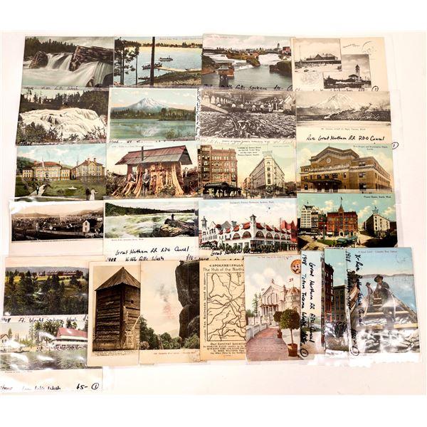 State of Washington Postcards (25)  [136056]