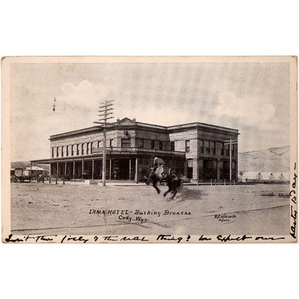 Irma Hotel Early Postcard (Buffalo Bill's Hotel)  [135767]