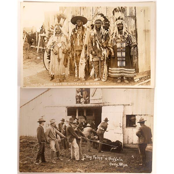 Wyoming Native American & Cowboy Real Photo Postcards  [135737]