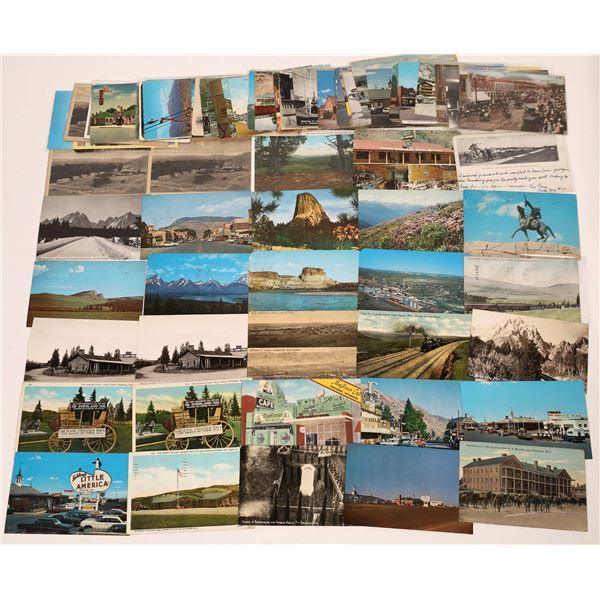 Wyoming Postcard group (100)  [138987]