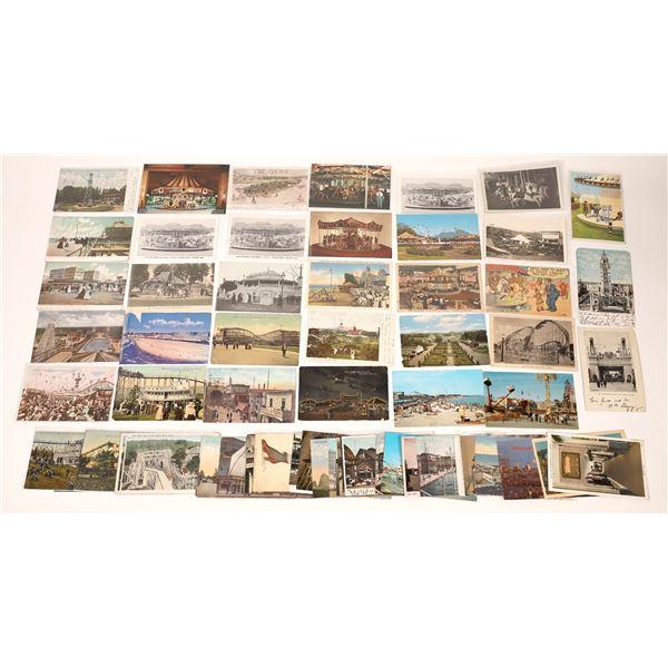 Amusement Park and Carousel Postcard Collection  [137949]