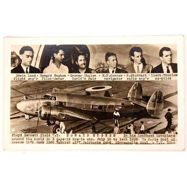 Only Known Howard Hughes Postcard  [133660]