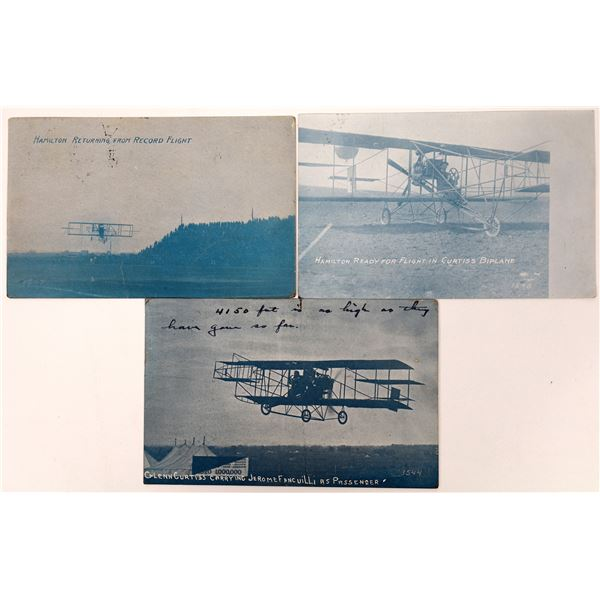 Aviation Pioneer Postcards #2 - Hamilton and Curtiss - 3  [137097]