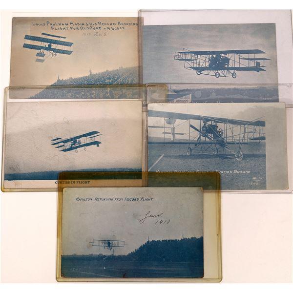 Aviation Pioneer Postcards #3 - Curtis, Hamilton, and Paulman - 5  [137098]