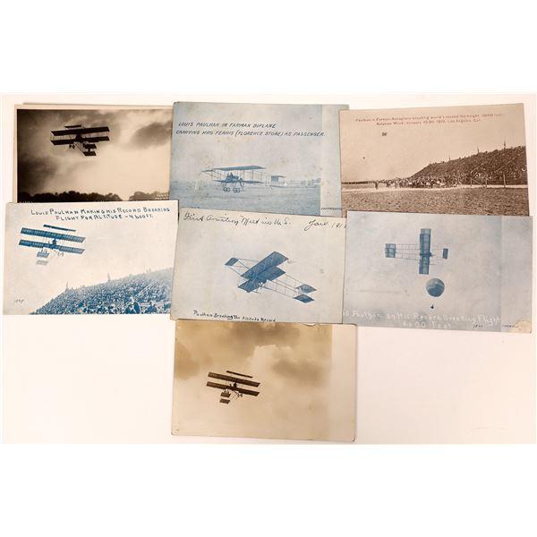 Aviation Pioneer Postcards #4 - Louis Paulhan - 7 pcs  [137101]