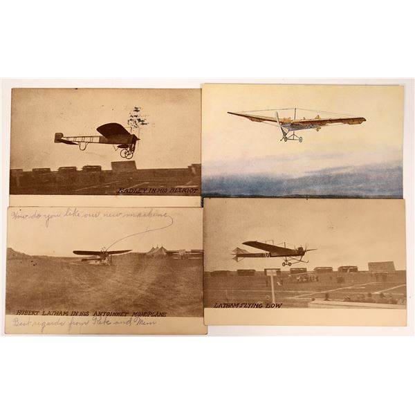Aviation Pioneer Postcards #6 - Latham & Radley - 4  [137105]