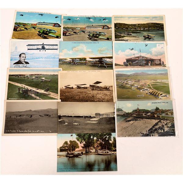 Aviation Pioneer Postcards #10 - Pioneer Airfields - 13 pcs  [137110]