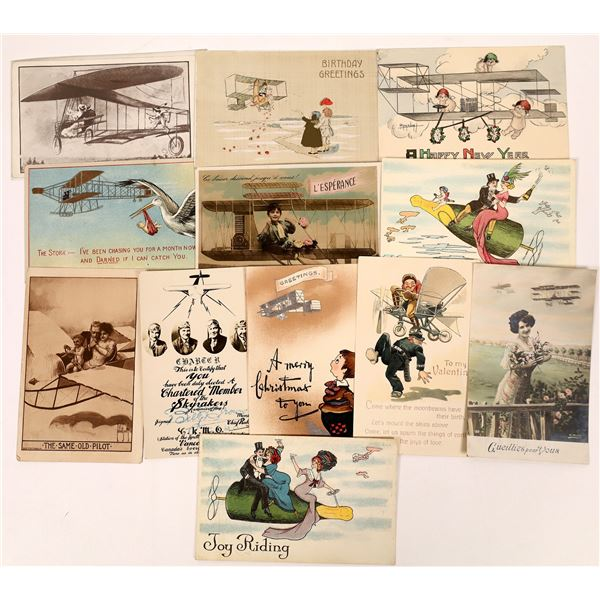Early Aviation Special Occasion Postcards - 12  [137113]