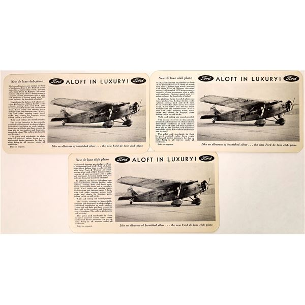Ford Tri-motor Advertising Post Cards  [135128]