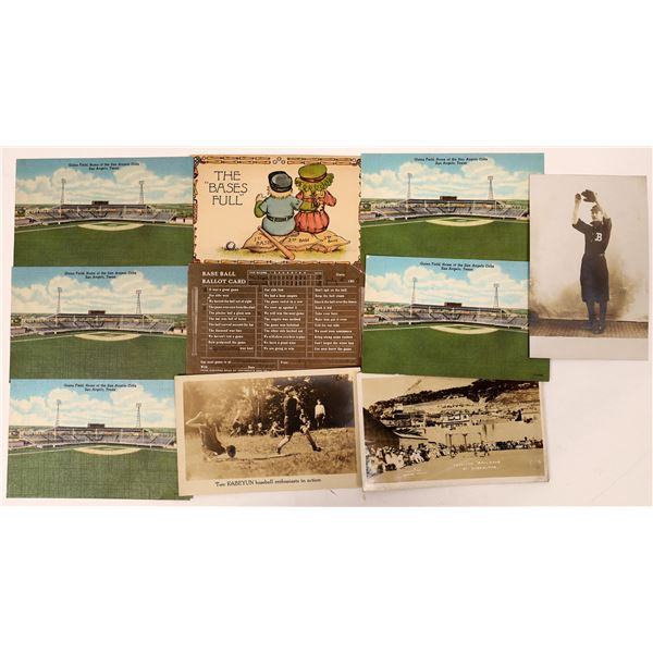 Baseball Postcard Group  (11)  [136089]