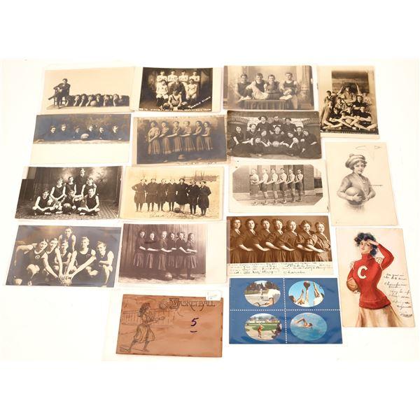 Basketball Postcard Group (Approx 16)  [138123]