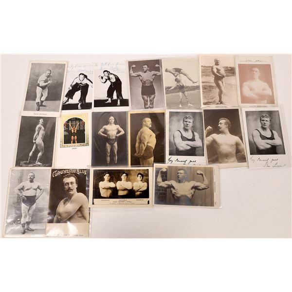 Weightlifters & Strongmen Postcards (18)  [136088]