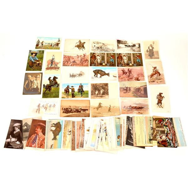 Cowboy and Indian Postcard Collection  [137933]
