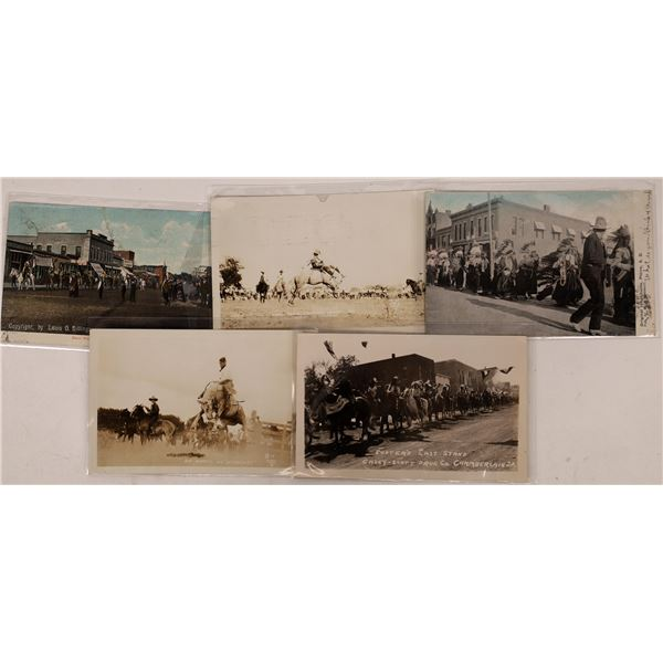 Cowboy and Indians Real Photo Postcards  [133707]
